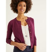 Amelia Crew Cardigan Purple