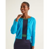 Amelia Crop Cardigan Blue