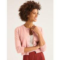 Amelia Crop Cardigan Pink