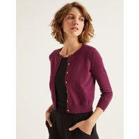 Amelia Crop Cardigan Purple