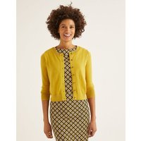 Amelia Crop Cardigan Yellow