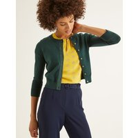 Amelia Crop Cardigan Green
