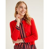 Amelia Crop Cardigan Red
