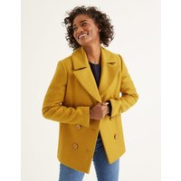 Seacole Pea Coat Yellow Women Boden, Orange