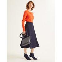 Rosie Ponte Midi Skirt Navy Women Boden, Navy