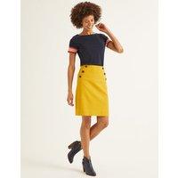 Imogen Mini Skirt Yellow Women Boden, Orange