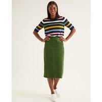 Natalie Midi Skirt Green Women Boden, Green