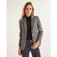 Smyth British Tweed Blazer Grey Women Boden, Black