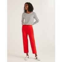 Brampton Cropped Trousers Red Women Boden, Red