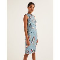 Seam Detail Martha Dress Blue Women Boden, Blue