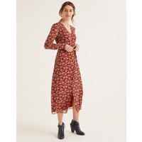 Hazel Midi Dress Brown Women Boden, Brown