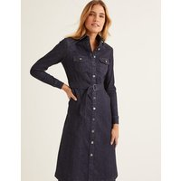 Lena Denim Shirt Dress Rinse Indigo Women Boden, Rinse Indigo