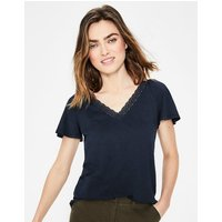 Margie Jersey Top Navy Women Boden, Navy