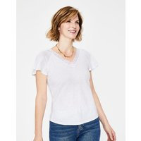 Margie Jersey Top White Women Boden, White