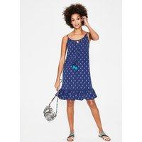Sophia Jersey Dress Blue Women Boden, Blue