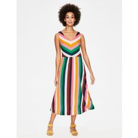 Octavia Jersey Midi Dress Multi Women Boden, Multicouloured