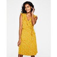 Jodie Jersey Wrap Dress Yellow Women Boden, Yellow