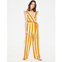 Mila Jumpsuit Yellow Ochre, Ivory Stripe Women Boden, Yellow Ochre, Ivory Stripe