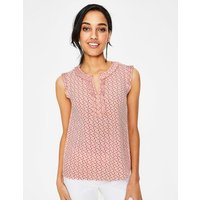 Peggy Top Pink Women Boden, Pink