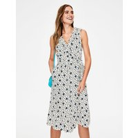 Nancy Linen Midi Dress Ivory Women Boden, Ivory