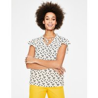 Angelica Top Ivory Daisy Cloud Women Boden, Ivory Daisy Cloud