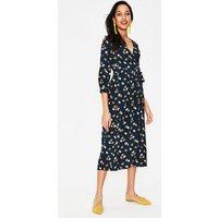 Floris Wrap Dress Navy Women Boden, Navy