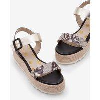 Lena Platform Sandals Black Women Boden, Black