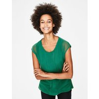 Dakota Jersey Top Green Women Boden, Green