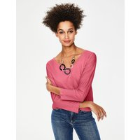 Supersoft Relaxed Voop Tee Pink Women Boden, Pink