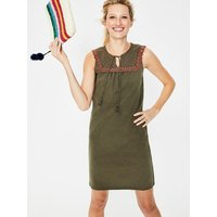 Nella Jersey Dress Khaki Women Boden, Khaki