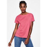 Supersoft Slash Neck Tee Pink Women Boden, Pink