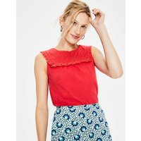Nella Jersey Top Red Women Boden, Red