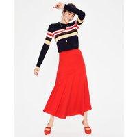 Alina Midi Skirt Red