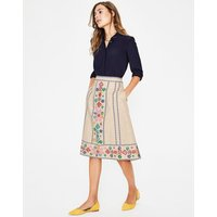 Brooke Embroidered Skirt Ivory Women Boden, Ivory