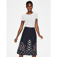 Brooke Embroidered Skirt Navy Floral Women Boden, Navy Floral