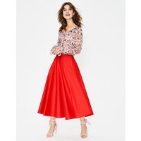 Delilah Midi Skirt Red Women Boden, Red