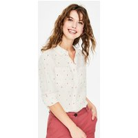 Linen Shirt Ivory Women Boden, Multicouloured