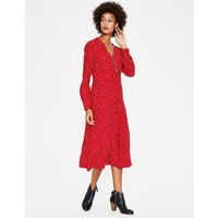 Elsie Midi Dress Red Women Boden, Red