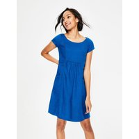 Alberta Linen Dress Blue Women Boden, Blue