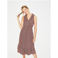 Nancy Linen Midi Dress Pink Women Boden, Pink
