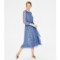 Kyra Silk Midi Dress Blue Women Boden, Blue