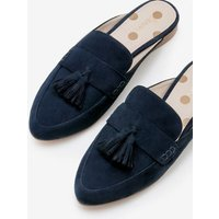 Katie Backless Loafers Navy Women Boden, Navy