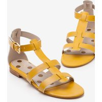 Eva Gladiator Sandals Yellow Women Boden, Yellow