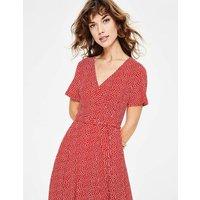 Cassia Jersey Midi Dress Red Women Boden, Ivory