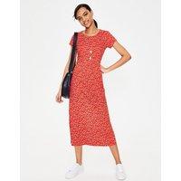 Nicola Jersey Midi Dress Red Women Boden, Red