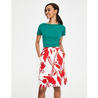 Printed Cotton A-line Skirt Ivory Women Boden, Ivory