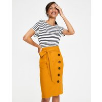 Leonora Skirt Yellow Ochre Women Boden, Yellow Ochre