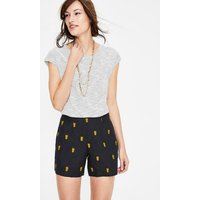 Tropical Embroidered Shorts Navy Women Boden, Navy