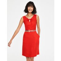 Rae Linen Dress Red Women Boden, Red