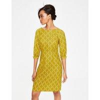 Kate Linen Dress Yellow Women Boden, Yellow